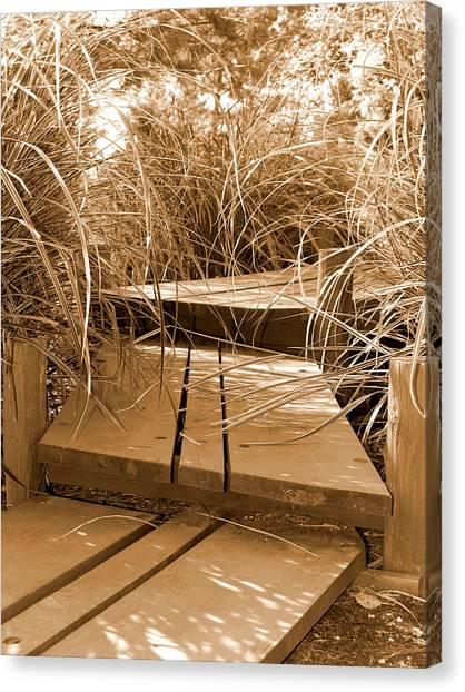 Stroll Garden Walkway Canvas Print by Audrey Venute