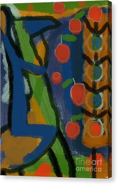 Stroll In Apple Garden Canvas Print by Aliza Souleyeva-Alexander