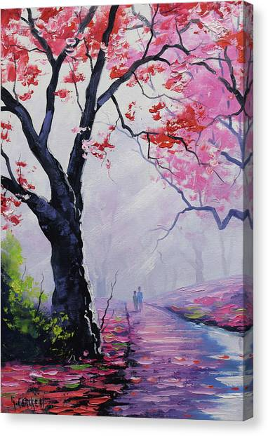 Salmon Canvas Print - Stroll In The Mist by Graham Gercken