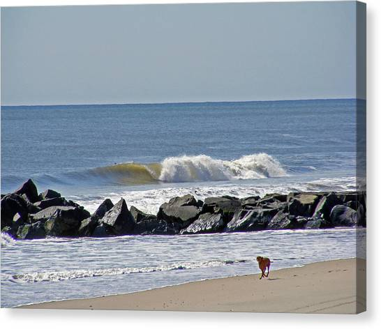 Strollin' The Jersey Shore Canvas Print
