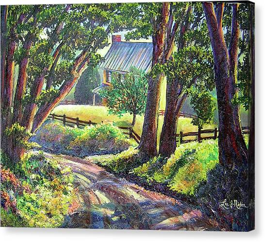 Strolling Down Old Rapidan Road Series Canvas Print