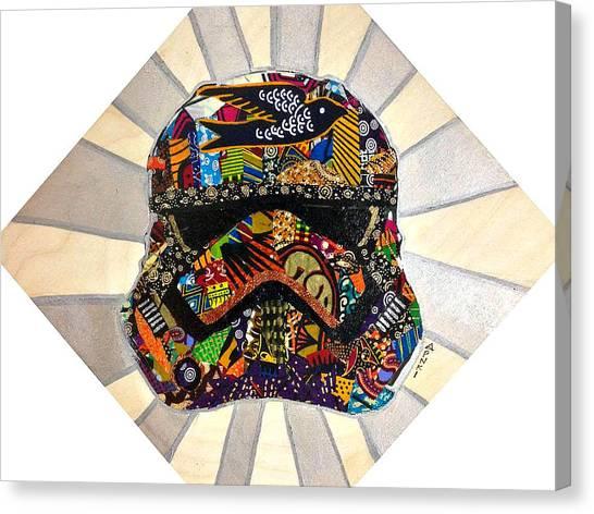 Strom Trooper Afrofuturist  Canvas Print