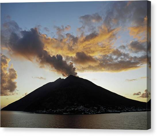Stromboli - Lighthouse Of The Mediterranean Canvas Print