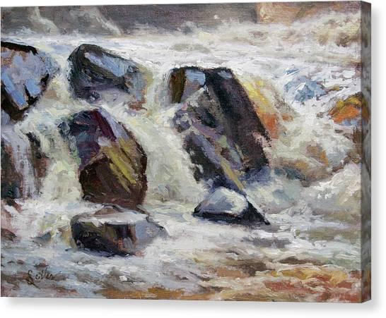 Strong Falls Plein Air Demo Canvas Print by Larry Seiler