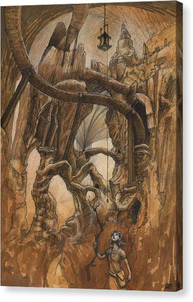 Caverns Canvas Print - Strunk Cavern by Ethan Harris