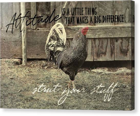 Strut Quote Canvas Print by JAMART Photography
