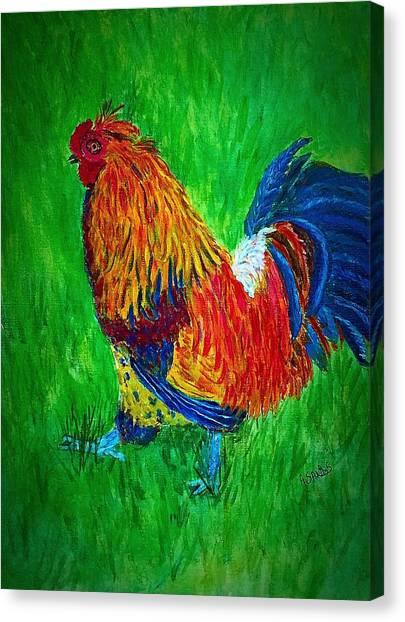 Strutting  Batam Rooster Canvas Print