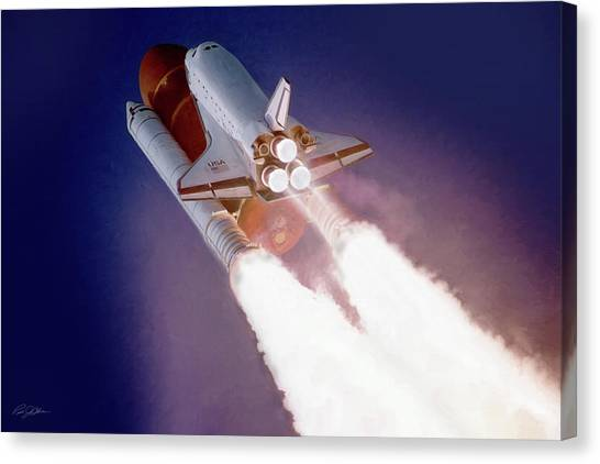 Space Ships Canvas Print - Sts-27 by Peter Chilelli