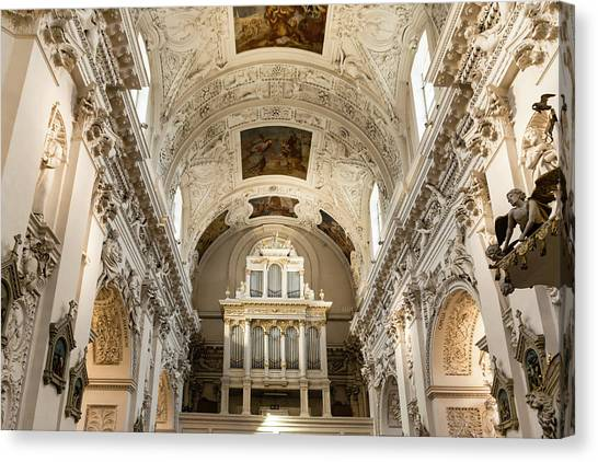 Canvas Print - Sts Peter And Paul Church Interior by Steven Richman