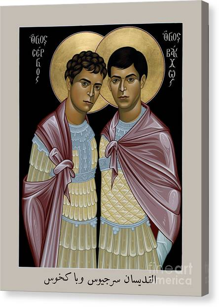 Sts. Sergius And Bacchus - Rlsab Canvas Print