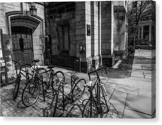 Yale University Canvas Print - Student Parking by Karol Livote