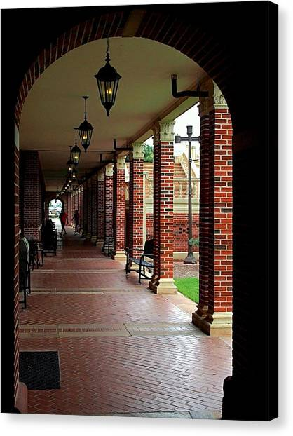 Oklahoma State University Canvas Print - Student Union Hall Osu  by Buck Buchanan