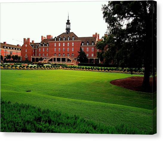 Oklahoma State University Canvas Print - Student Union Osu by Buck Buchanan