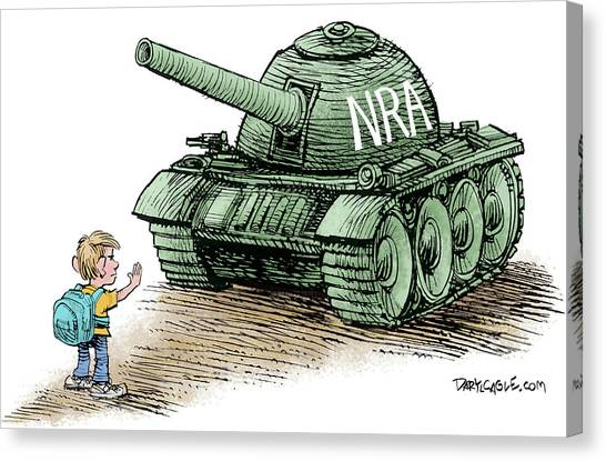 Canvas Print featuring the drawing Students Vs The Nra by Daryl Cagle