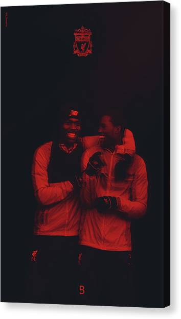 Liverpool Fc Canvas Print - Studge And Gini Liverpool Fc by Bryan Dermody