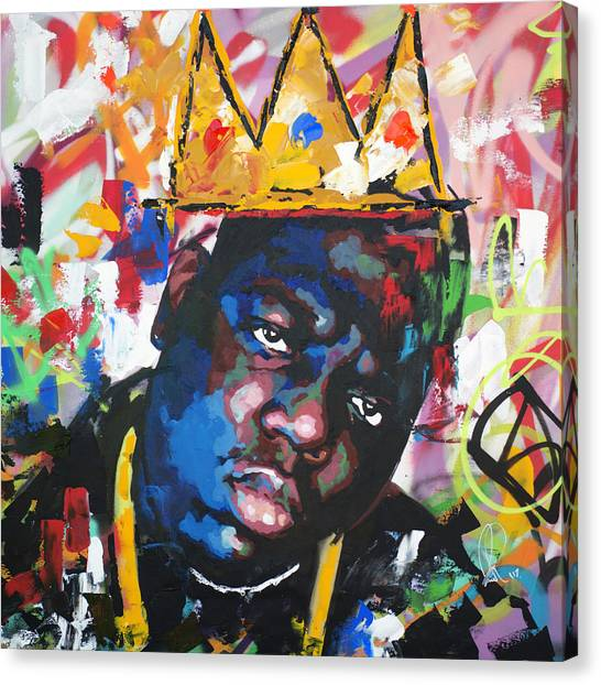 Hip Hop Canvas Print - Biggie Smalls by Richard Day