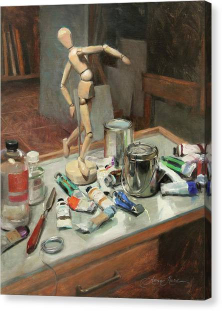 Supplies Canvas Print - Studio Shenanigans by Anna Rose Bain