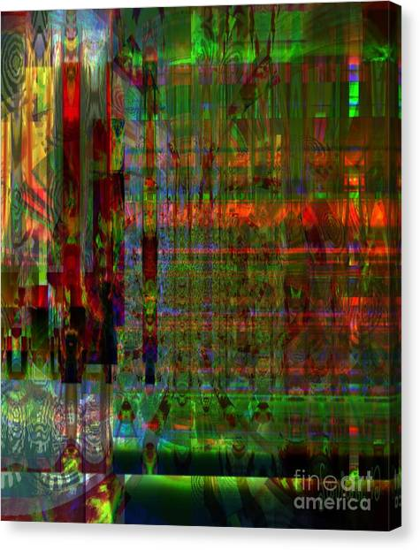 Study - Mental Condition Of The Artist Canvas Print by Fania Simon