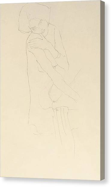 Adele Canvas Print - Study For Adele Bloch Bauer II by Gustav Klimt