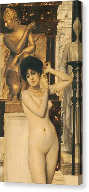 Sexuality Canvas Print - Study For Allegory Of Sculpture by Gustav Klimt