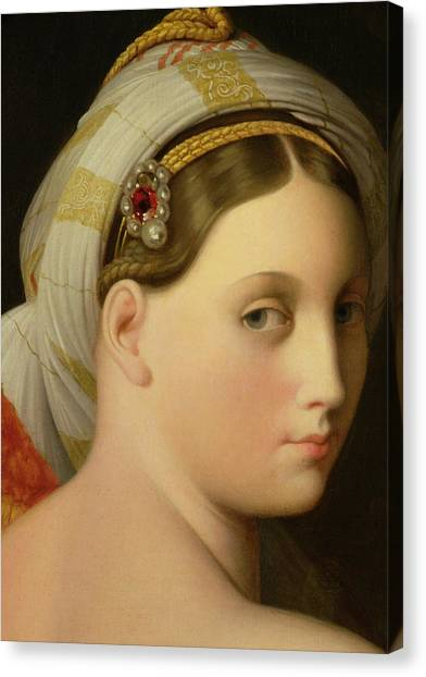 Chin Canvas Print - Study For An Odalisque by Ingres