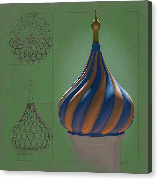 Study For An Onion Dome Canvas Print