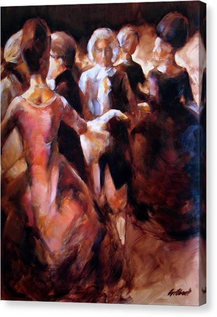 Study For At The Ball Canvas Print by Stuart Gilbert