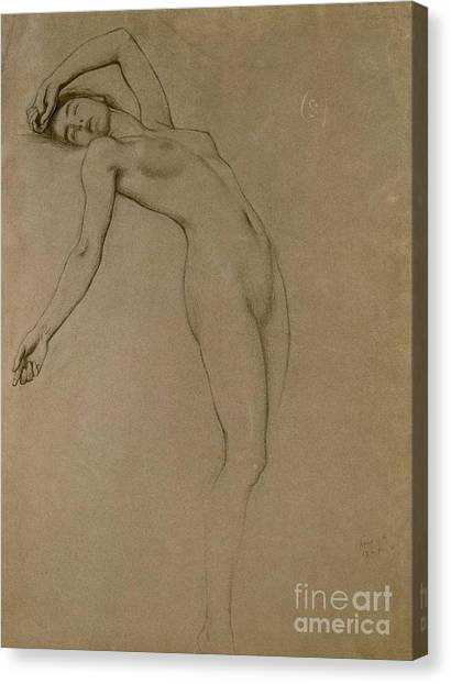 Female Canvas Print - Study For Clyties Of The Mist by Herbert James Draper