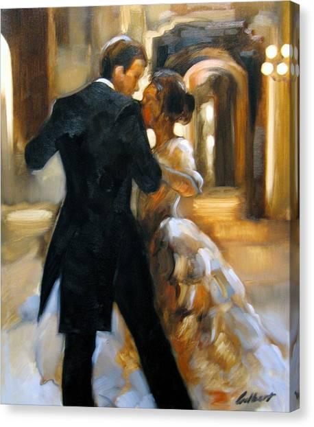Dance Canvas Print - Study For Last Dance 2 by Stuart Gilbert