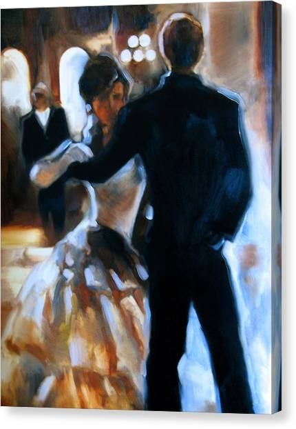 Study For Last Dance Canvas Print by Stuart Gilbert