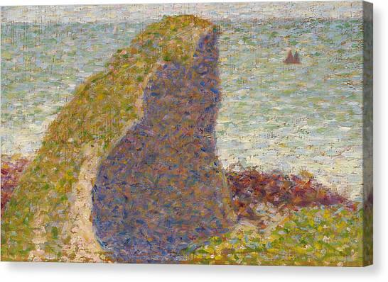 Post-impressionism Canvas Print - Study For Le Bec Du Hoc Grandcamp by Georges-Pierre Seurat