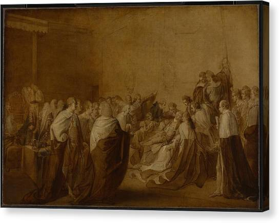 Chatham Canvas Print - Study For The Collapse Of The Earl Of Chatham by John Singleton
