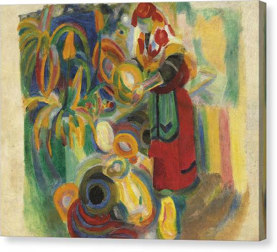 Divisionism Canvas Print - Study For The Large Portuguese by Robert Delaunay