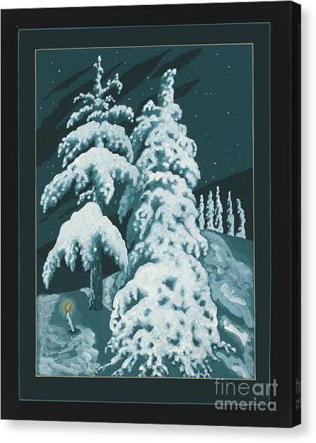 Canvas Print featuring the painting Study For Winter Trees Of Life 299 by William Hart McNichols