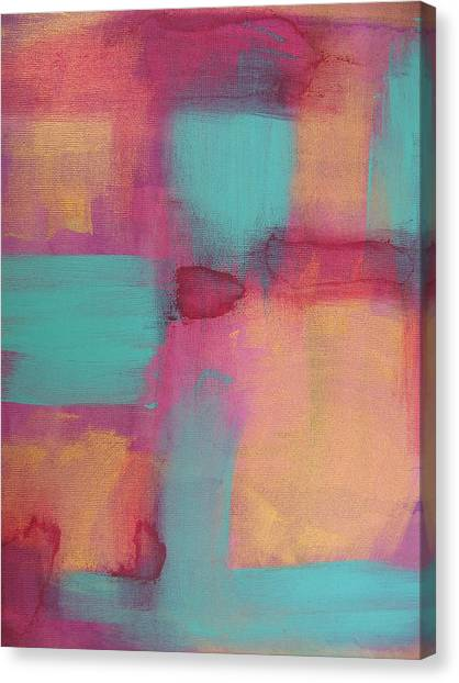 Study In Gold And Teal Canvas Print by Lindie Racz