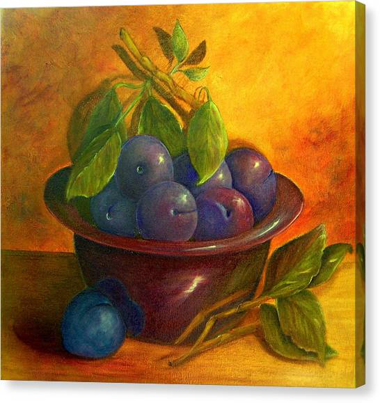 Study In Purple Canvas Print