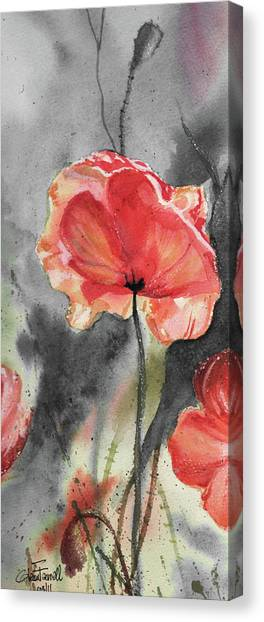 Remembering The Sacrifice Canvas Print - Study In Red by Glenn Farrell