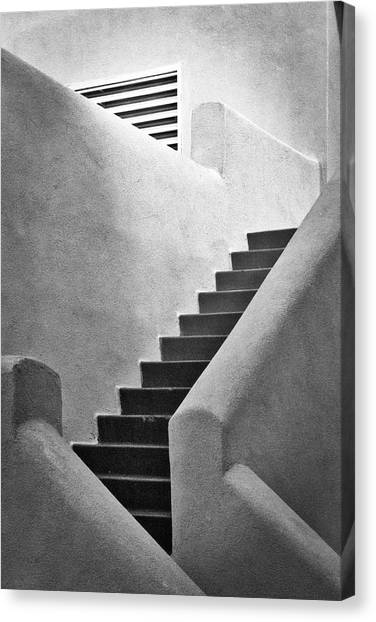 University Of New Mexico Unm Canvas Print - Study In Stairs by Mark David Gerson