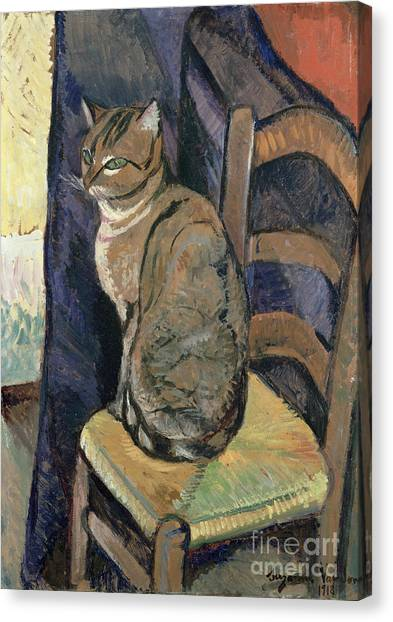 Post-impressionism Canvas Print - Study Of A Cat by Suzanne Valadon