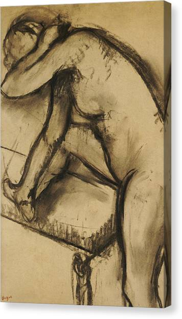 Edgar Degas Canvas Print - Study Of A Dancer by Edgar Degas