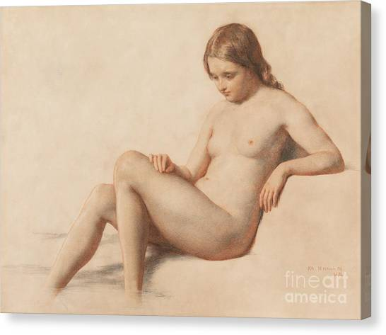 Nudes Canvas Print - Study Of A Nude by William Mulready