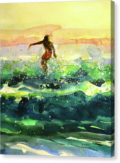 Study Of A Surfer 1 Canvas Print
