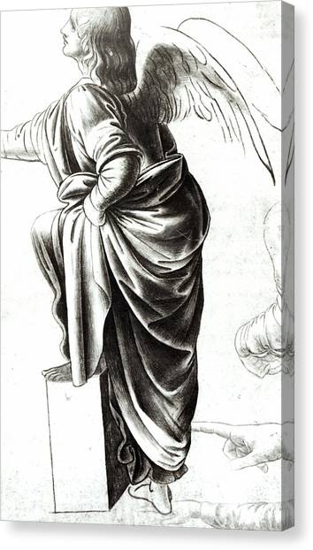 Long Hair Canvas Print - Study Of An Angel  by Leonardo Da Vinci