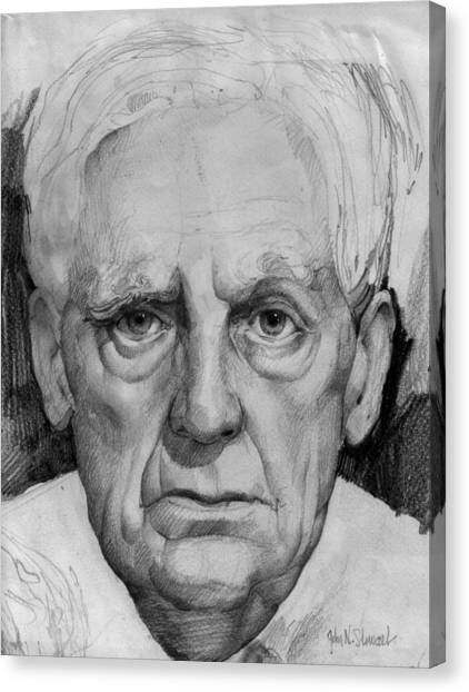 Study Of An Older Man Canvas Print