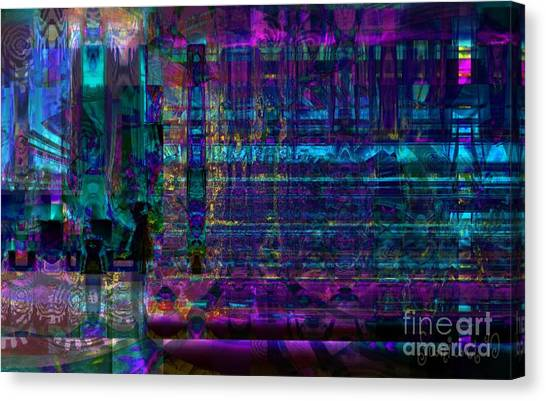 Study Of Gestures Canvas Print by Fania Simon