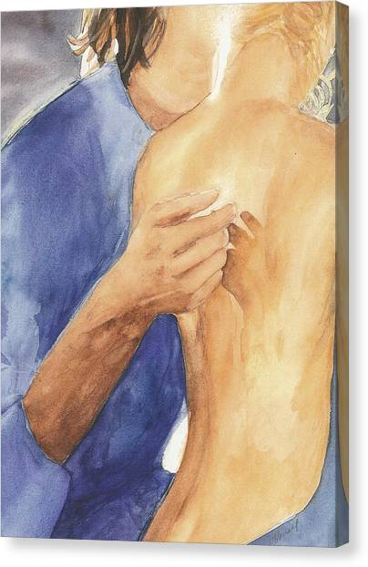 Study Of Lovers  Canvas Print
