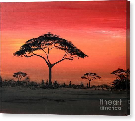 Study Of Sunset 6 Canvas Print by Abu Artist