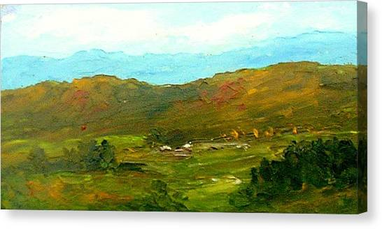 Study Ranch Land Canvas Print by Fred Wilson