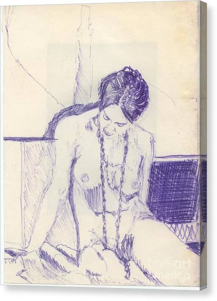 Ballpoint Pens Canvas Print - Studying For Exams by Ron Bissett