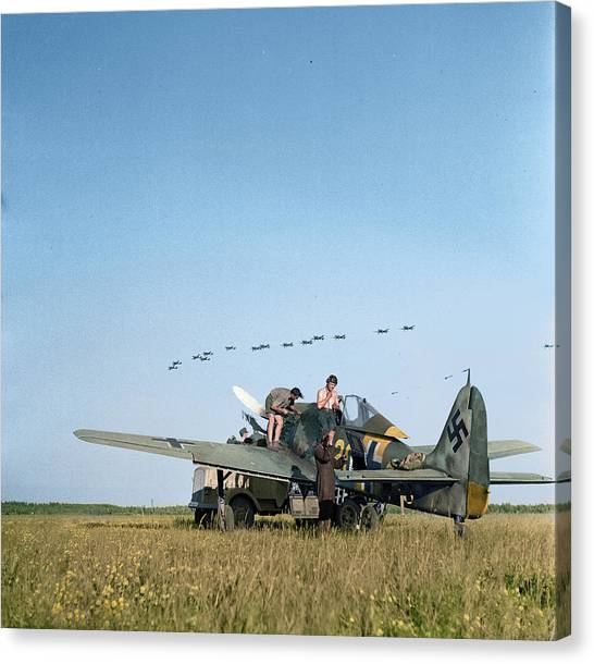 Wii Canvas Print - Stukas Fly Over Immola by Jared Enos